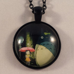Black Totoro Studio Ghibli Cabochon Necklace